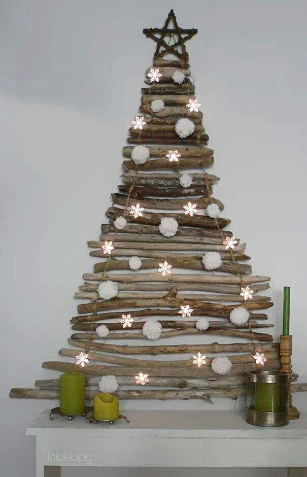 Christmas Tree Made With Branches Cute Stick Christmas Tree Creative Christmas Trees Diy Christmas Decorations Easy
