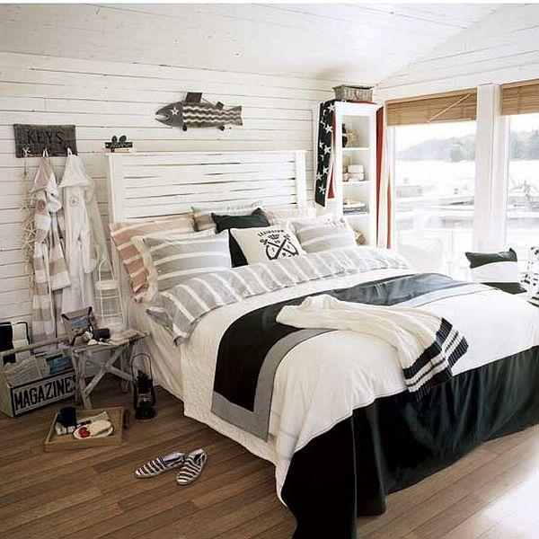 25 Cool Beach Style Bedroom Design Ideas Nautical Decor Bedroom Beach Style Bedroom Beach Themed Bedroom