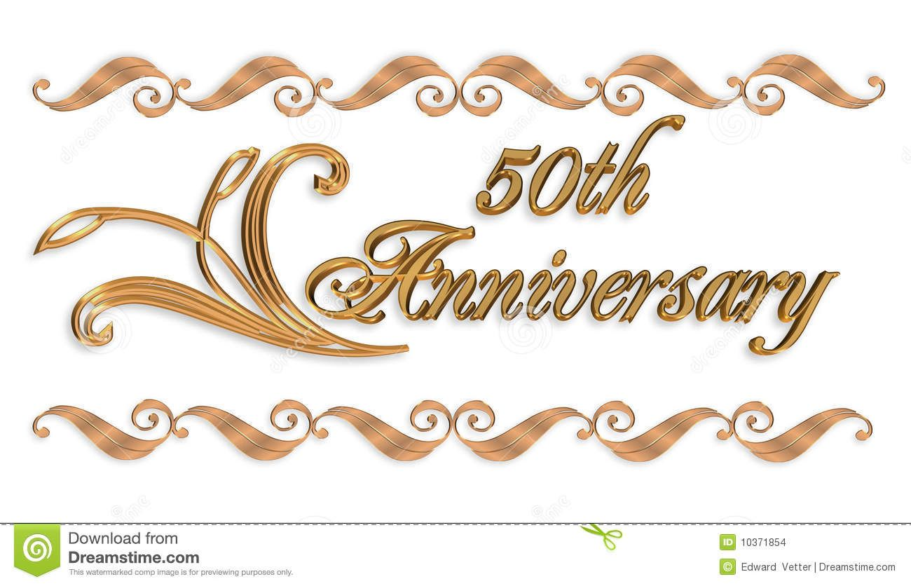 50th anniversary invitation stock images image 10371854 happy photo about illustrated golden borders scroll elements for wedding anniversary party invitation on white background 10371854 stopboris Images