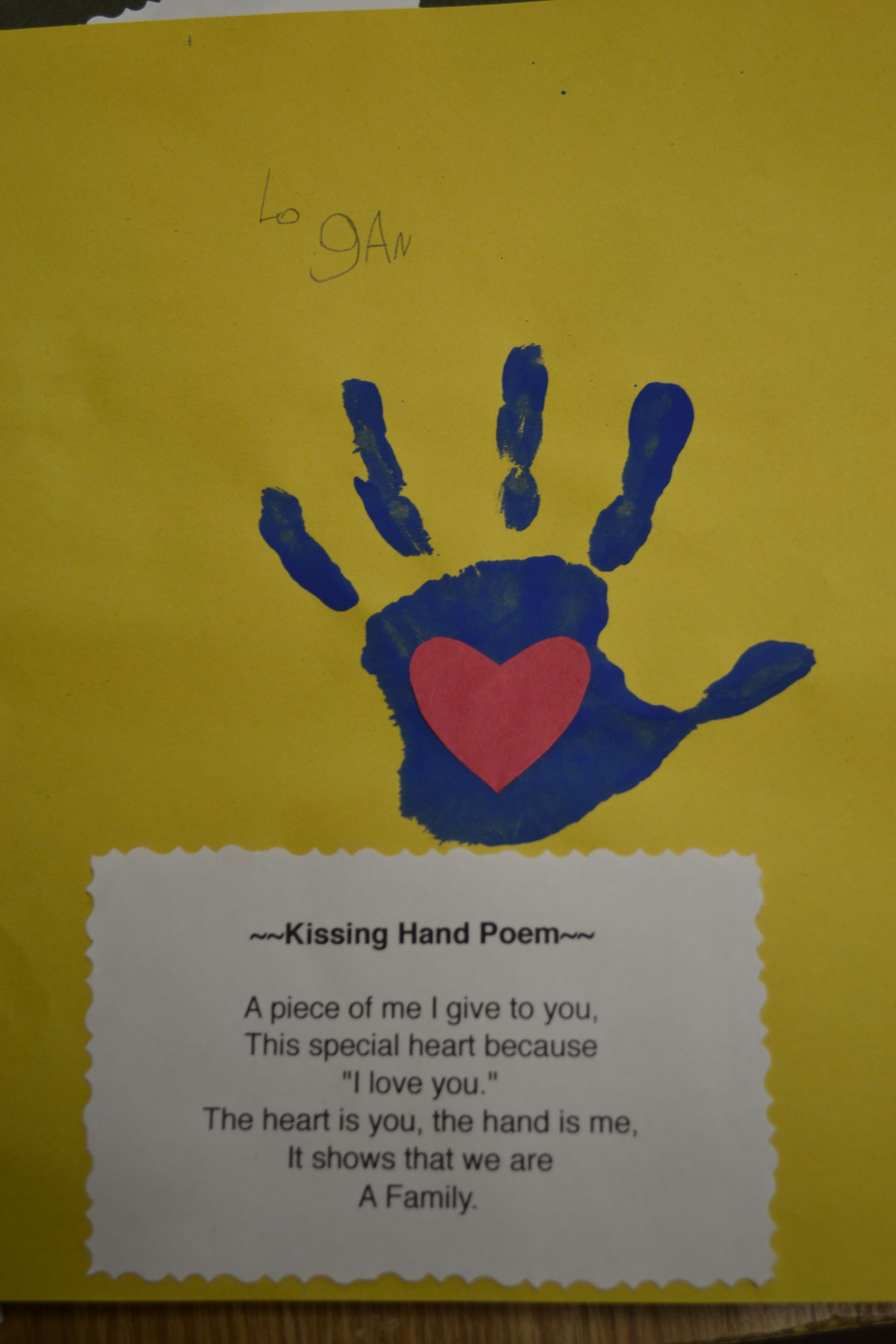 Beginning Of The Year Kissing Hand