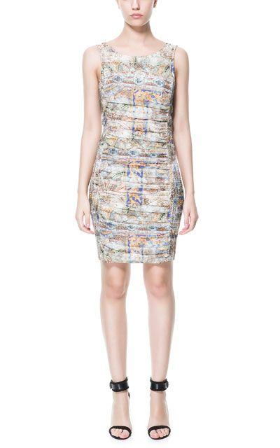 PRINTED DRAPED DRESS - Dresses - TRF | ZARA United States