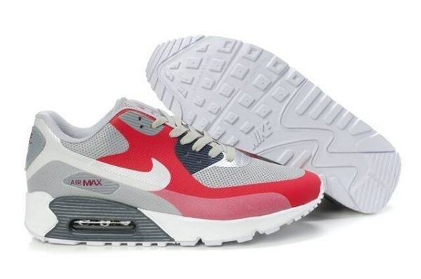 latest fashion buy sale free shipping Trainer Gris Rose Argenté Blanc - Nike Air Max 90 Hyperfuse Homme ...