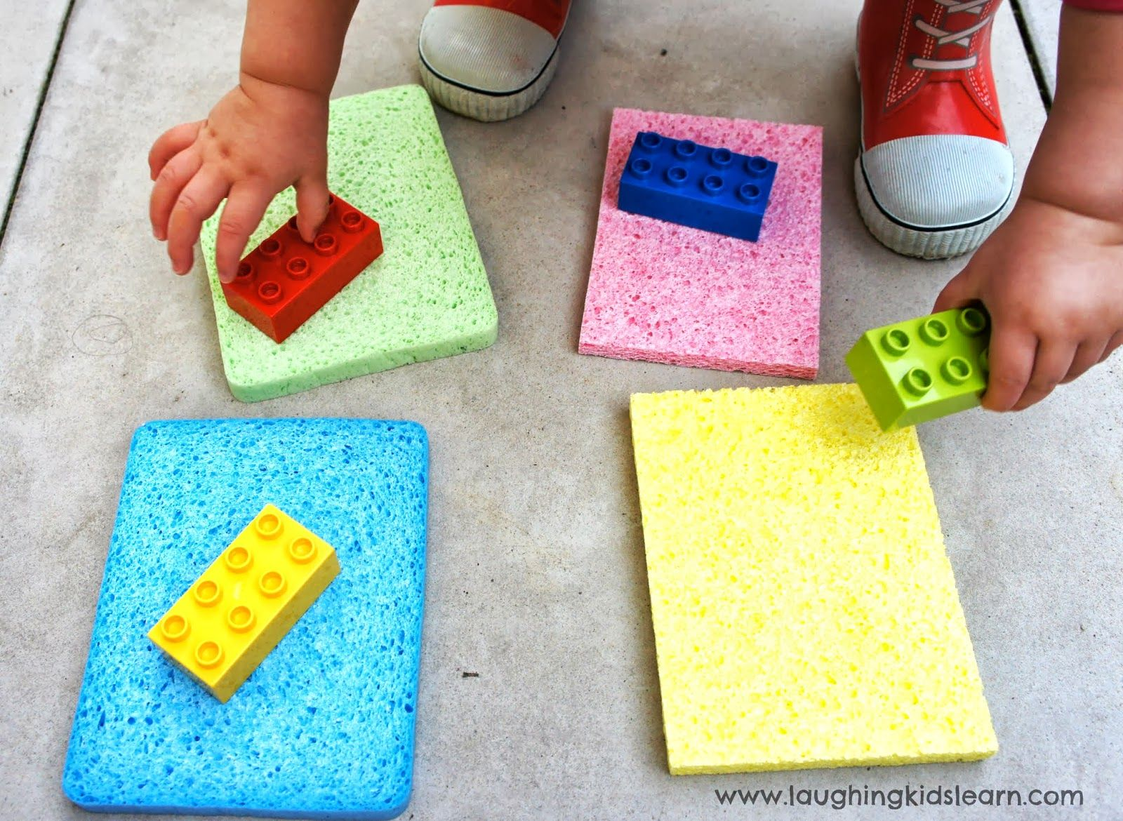 Toddler color learning games - Learn With Play At Home Simple Toddler Colour Matching Activity