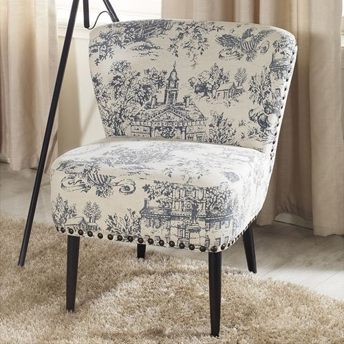 Best Onassis Linen Accent Chair Beige Blue Accent Chairs 400 x 300
