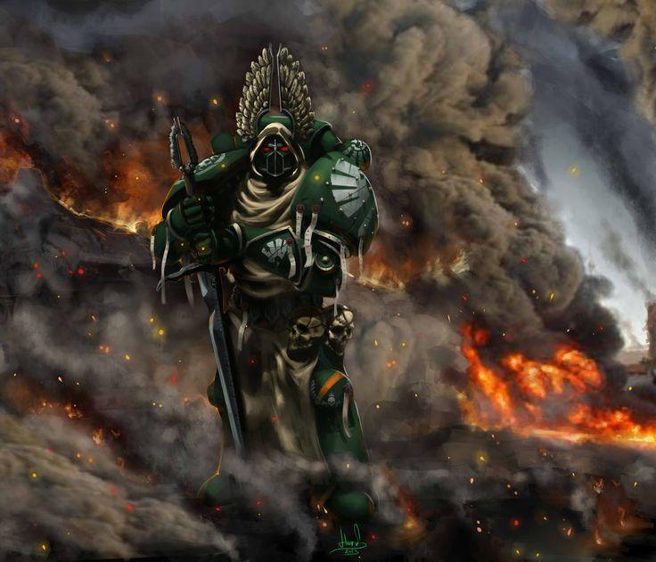 картинки по запросу Horus Heresy Dark Angels Heraldry Dark