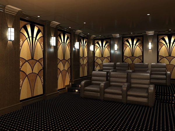 Original Art Deco Designs For Your Acoustic Panels And Home Theaters All Art Deco Designs Can