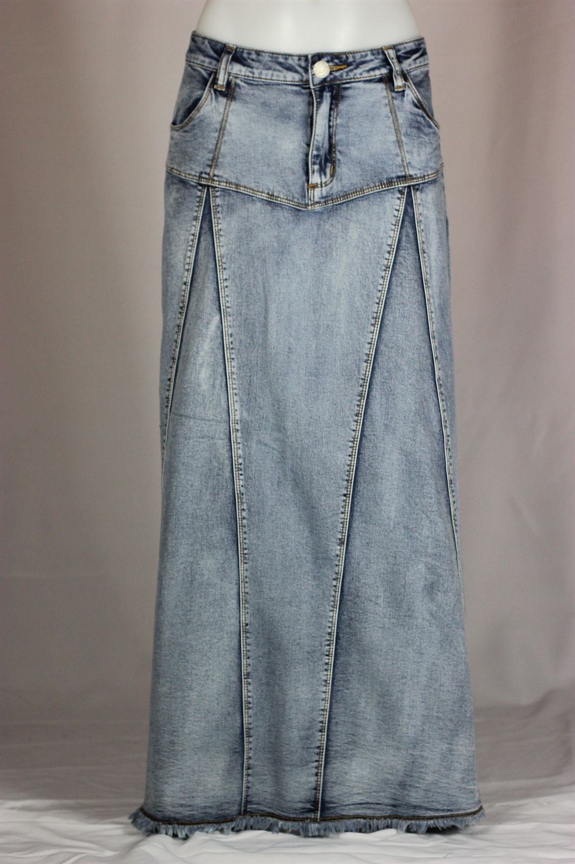 Make a Denim Skirt From Recycled Jeans | Bling