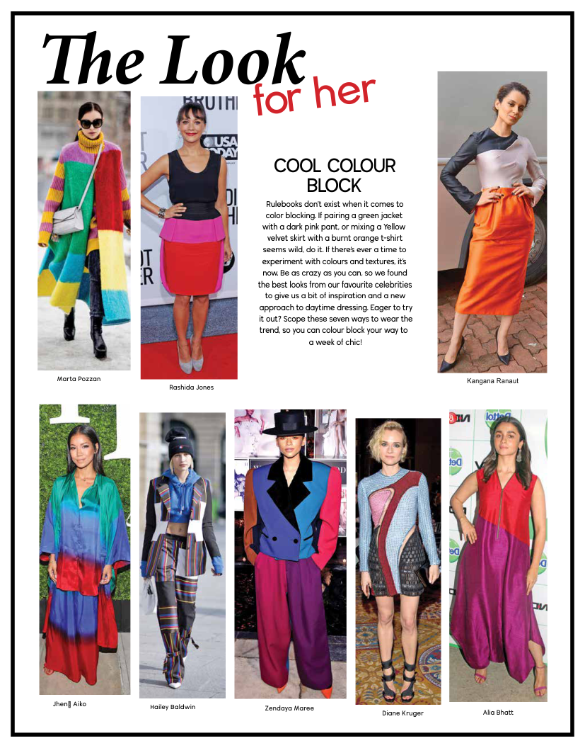 How to colour wear blocking trend catalog photo