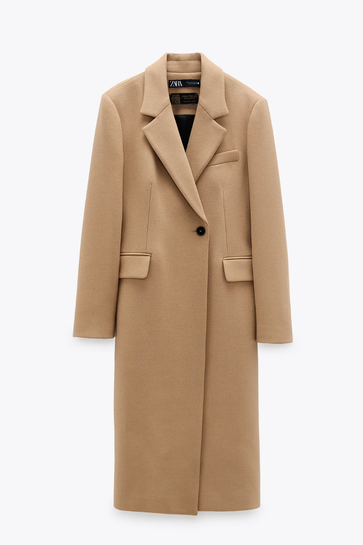 Wool Blend Coat Zara United States Wool Coat Outfit Coat Wool Blend Coat [ 1500 x 1000 Pixel ]