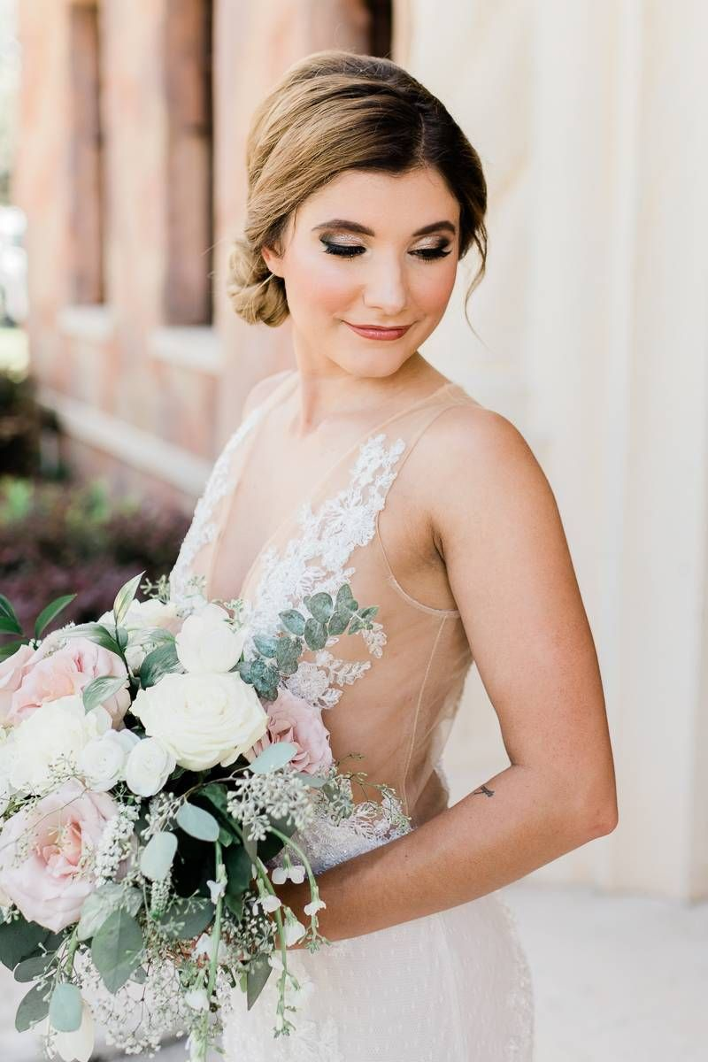 elegant wedding hair and makeup by brie and brie and marin
