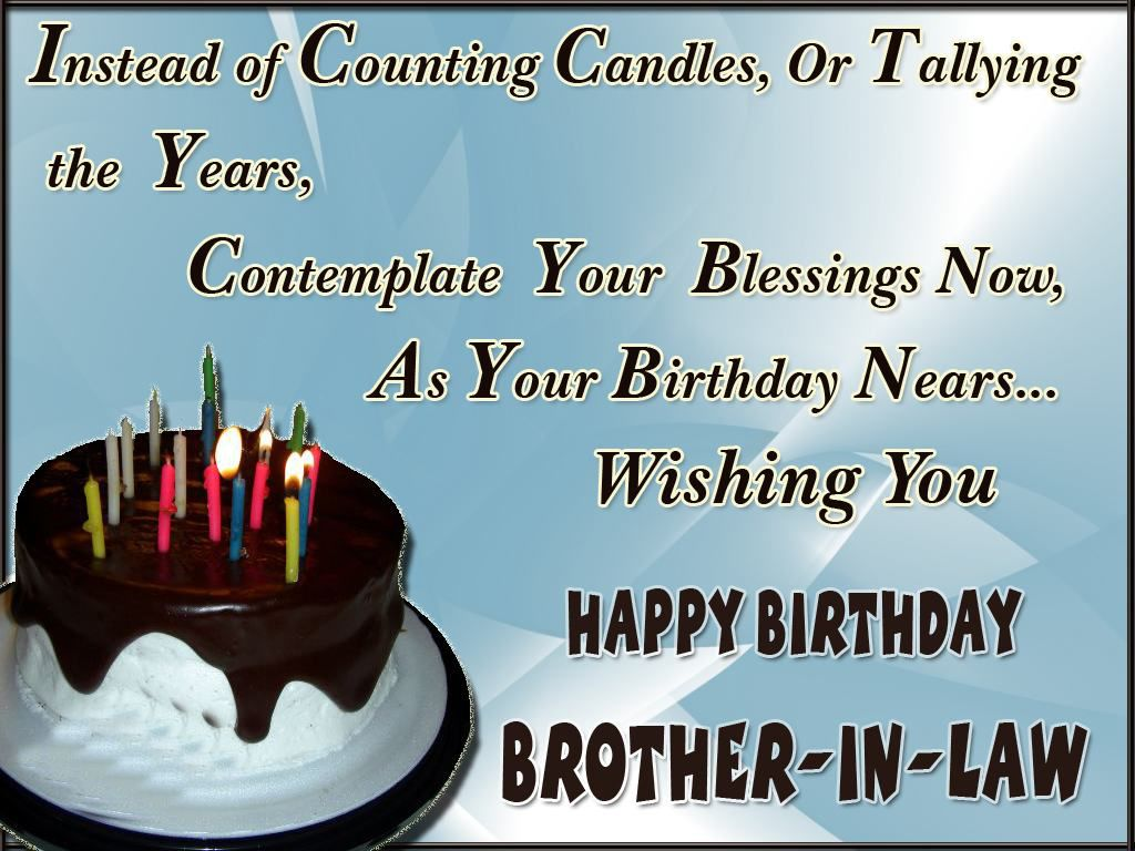 Birthday Wishes Quotes For Brother ~ Happy birthday brother in law quotes images and messages pinterest