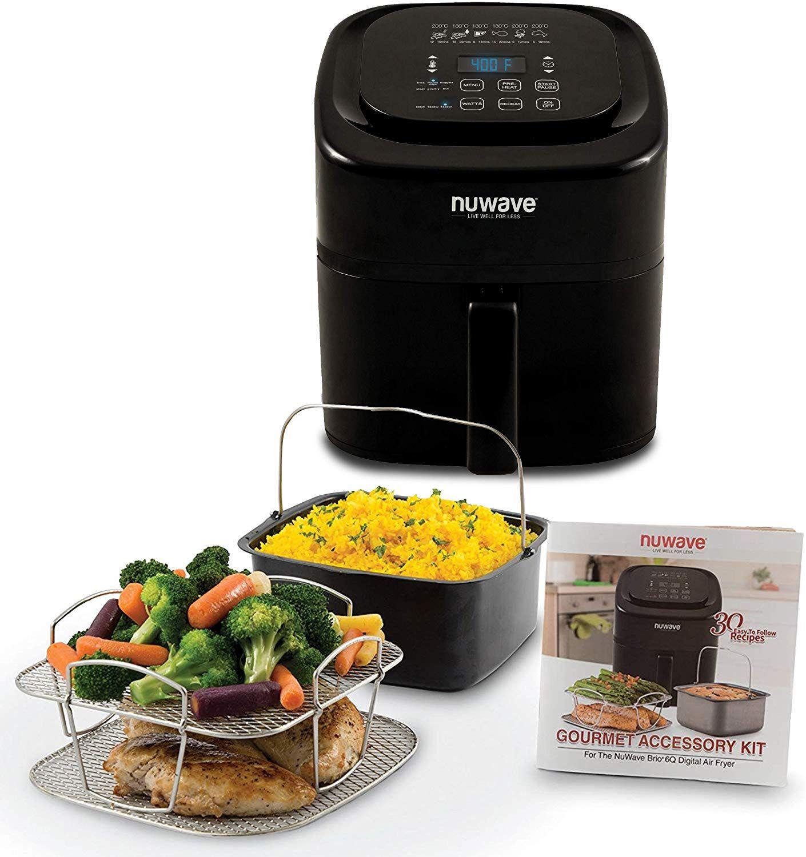 NUWAVE BRIO 6Quart Digital Air Fryer cooking
