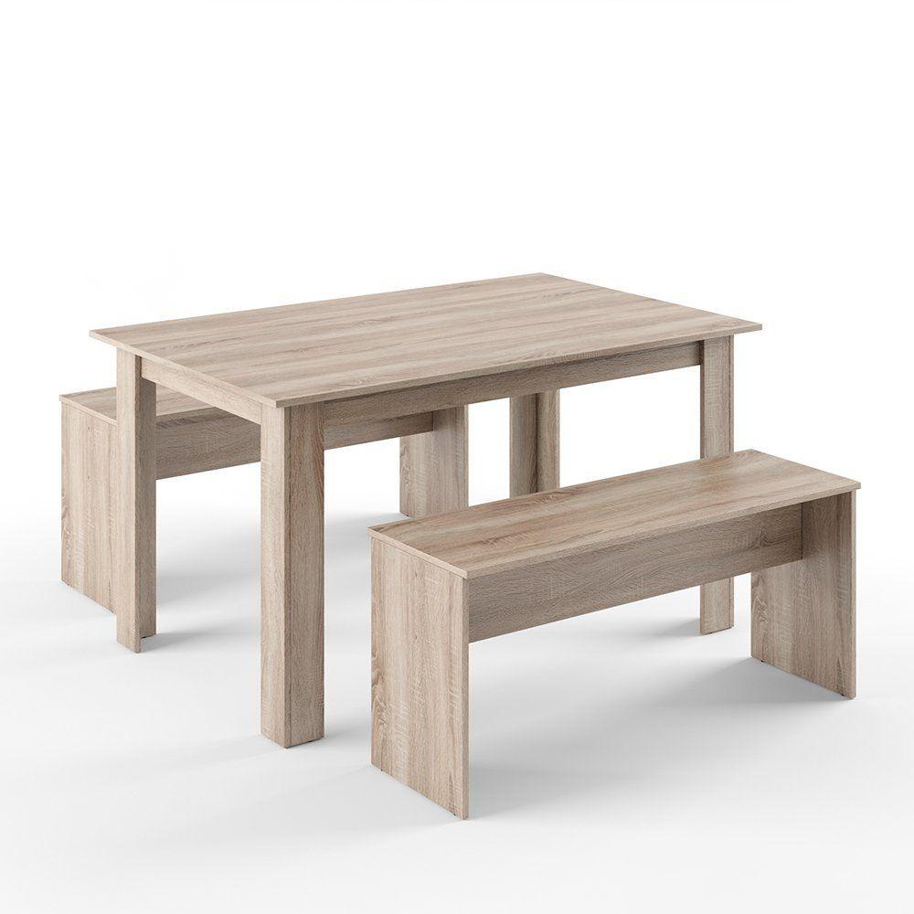 VICCO Tischgruppe 140 x 90 cm 4 Personen Esszimmer
