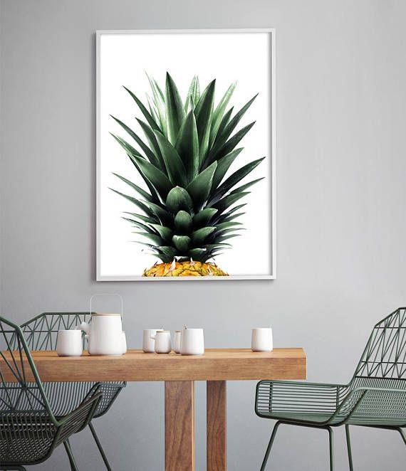 High Quality Pineapple Art Print   Pineapple Photography   Tropical Home   Beach Decor   Tropical  Wall Art