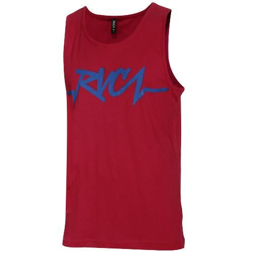 Rvca Catastrophe Red Tank Top