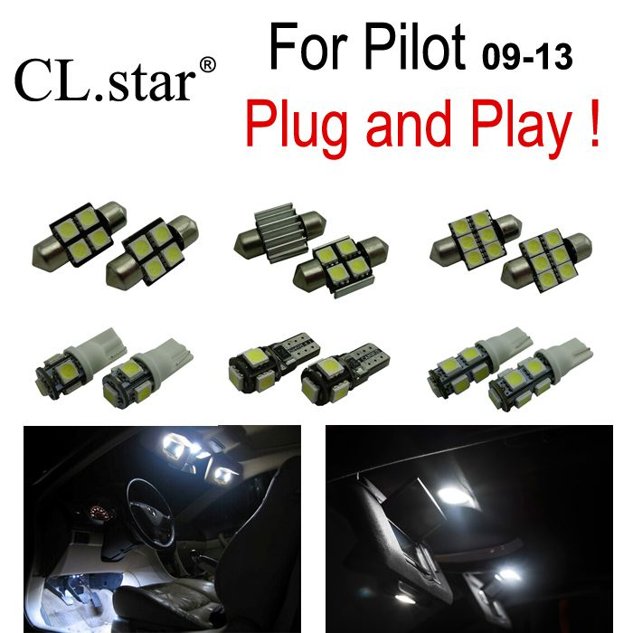 13pc X Xenon White LED Interior Light Kit Package For