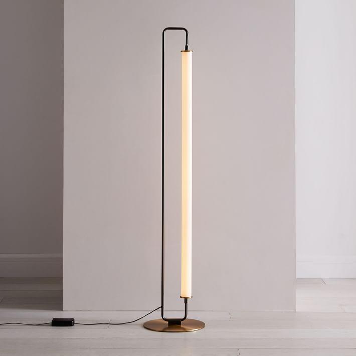 Linear Metal Led Floor Lamp Lampes Modernes Lampe Sur Pied Lampadaire