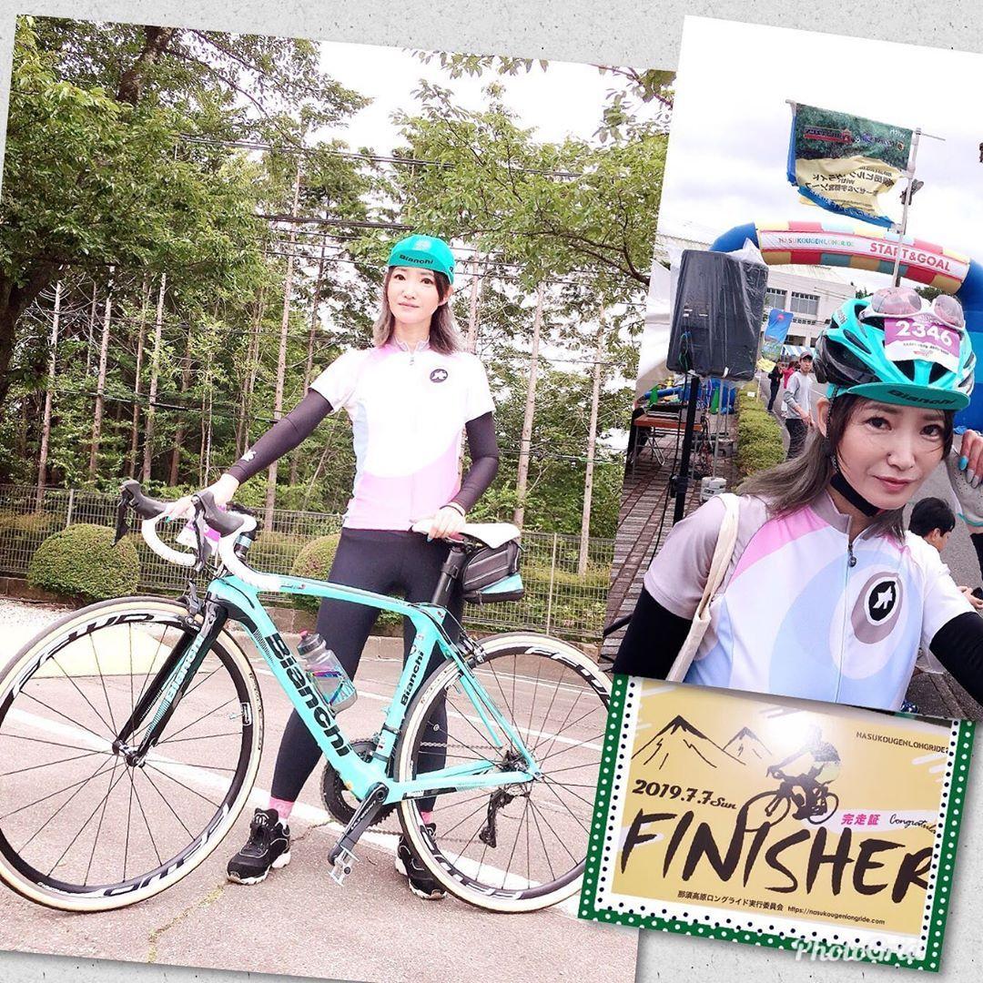 Saika Nakajoさんはinstagramを利用しています 今日は七夕ですね 初の那須ロングライドに参加 私は那須岳80キロ コースにエントリーしていたのですが 前日からの悪天候により道が危険との事で55キロのコースに 自転車ガール 那須岳 自転車