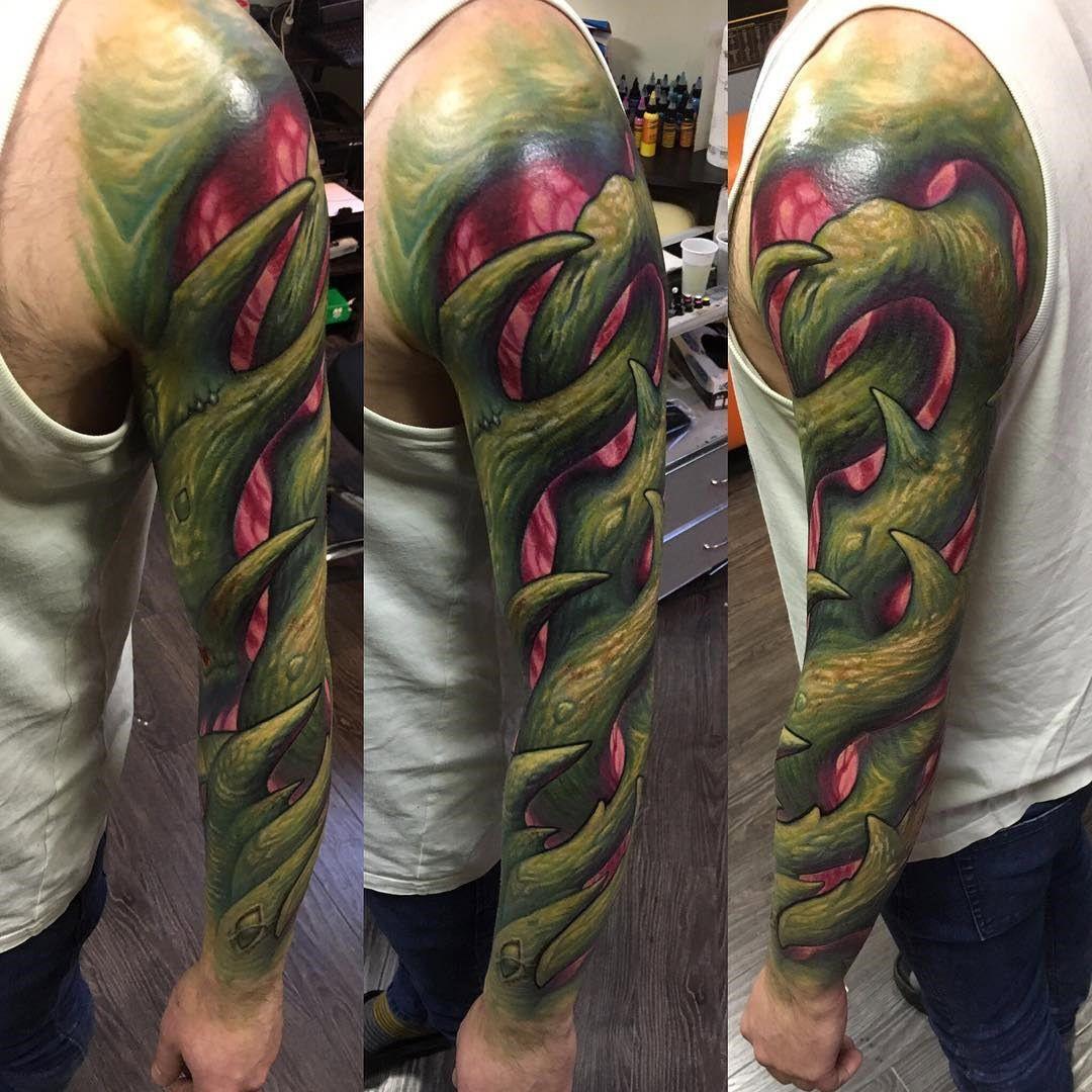 Vines Organic tattoo, Bio organic tattoo
