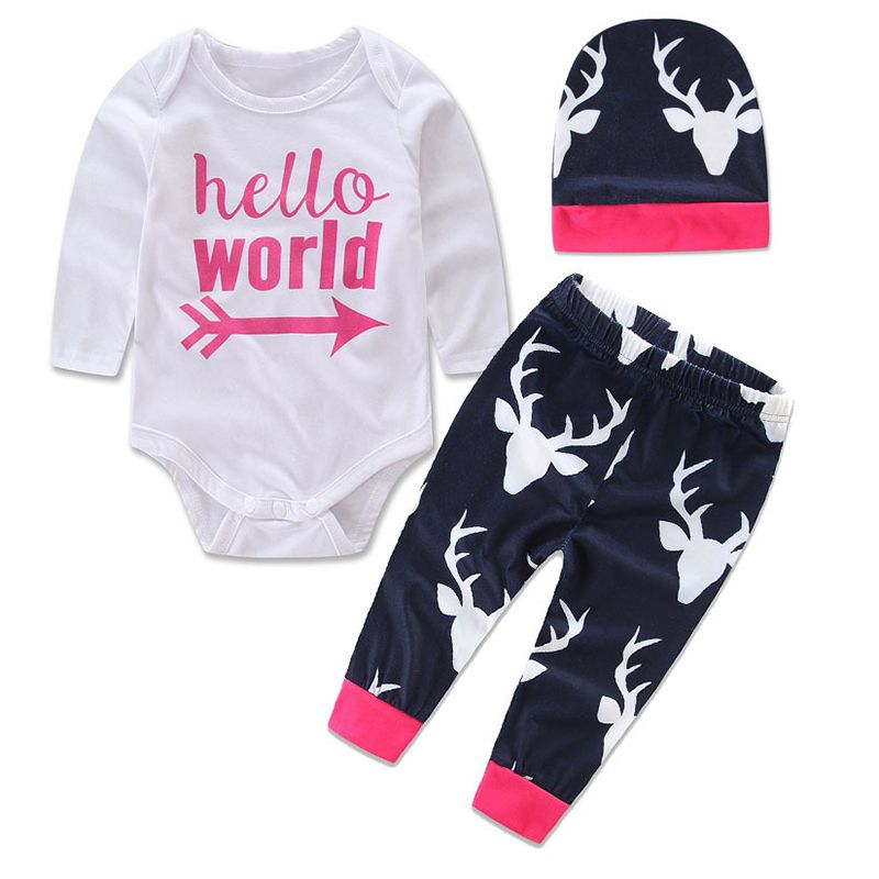 ac822d9b6 Click to Buy    3pcs High Quality fall spring Cute Newborn Baby Girl ...