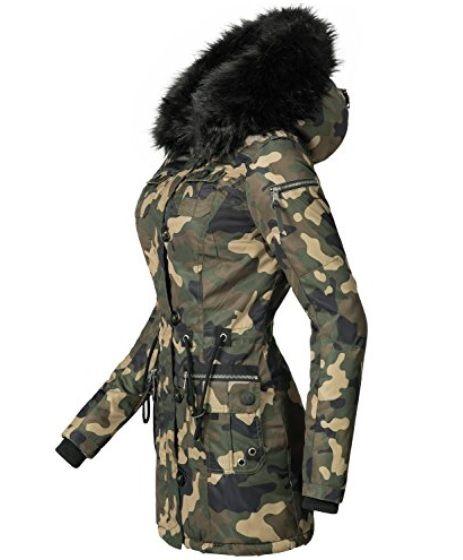 el más nuevo eeab3 23251 Abrigo camuflaje #Amazon #Abrigosmujer #Modaotoño/invierno ...