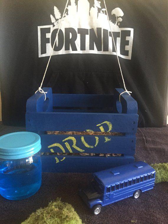Fortnite Drop Box crate gift basket Battle Bus Slurp Juice