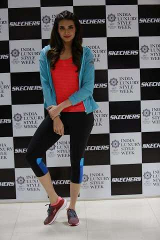 3e1d31de781 Karishma Tanna Launches The Skechers Performance Apparel Range at India  Luxury Style Week