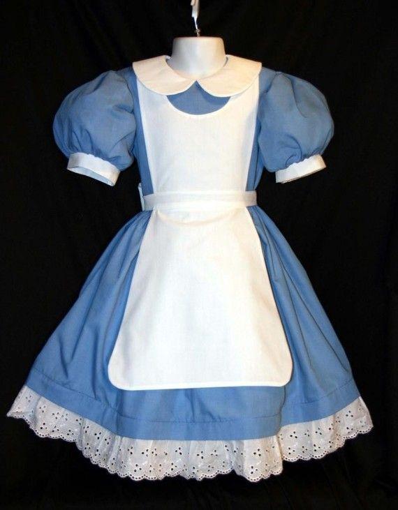 Disney ALICE In WONDERLAND Costume New Pinafore CUSTOM
