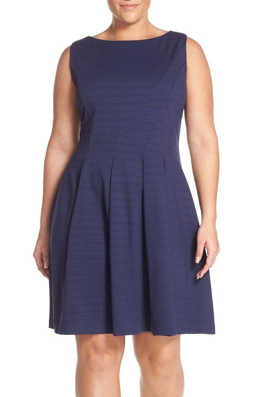 Halogen® Ponte Fit & Flare Dress (Plus Size)   Nordstrom