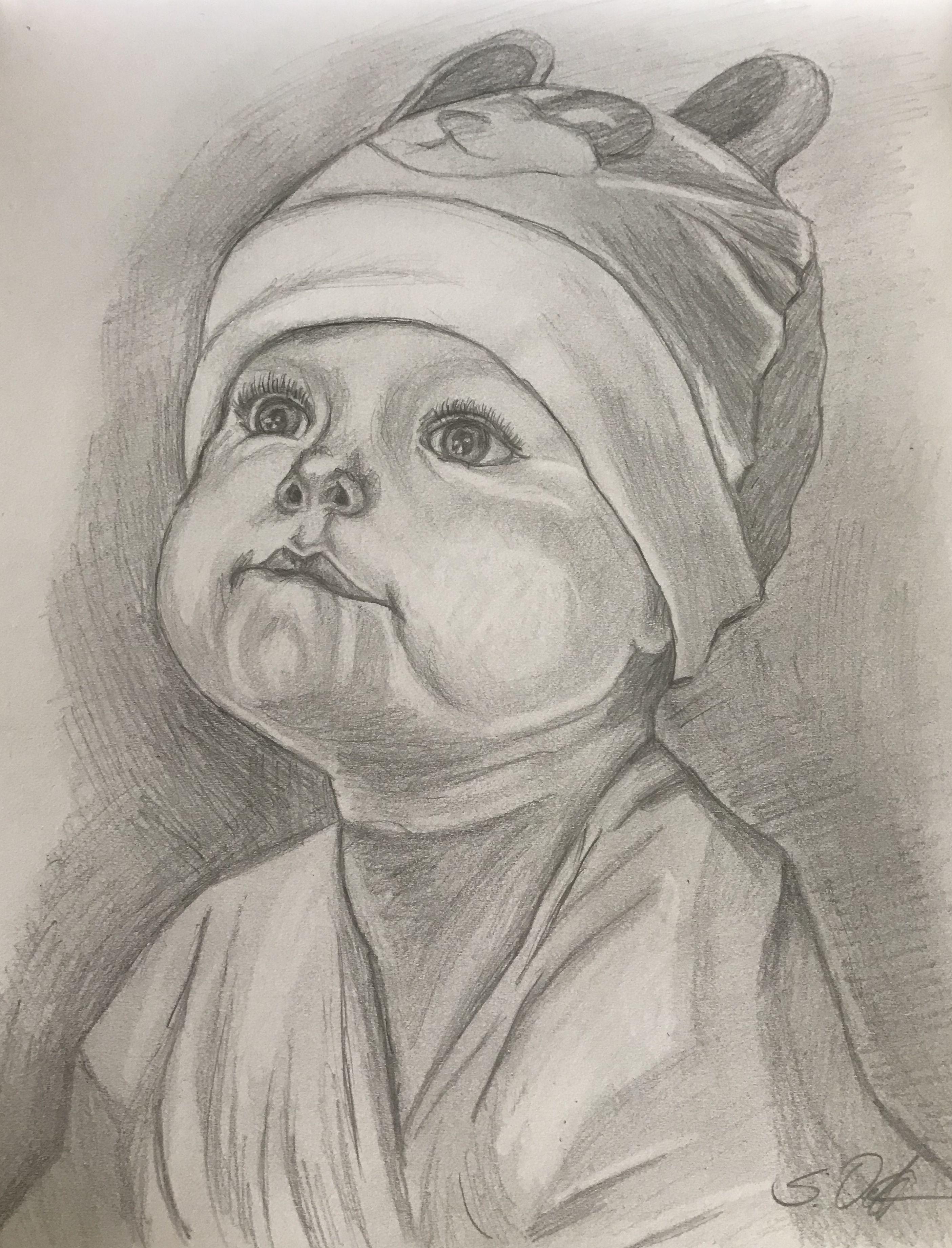 Маленькие дети картинки карандашом