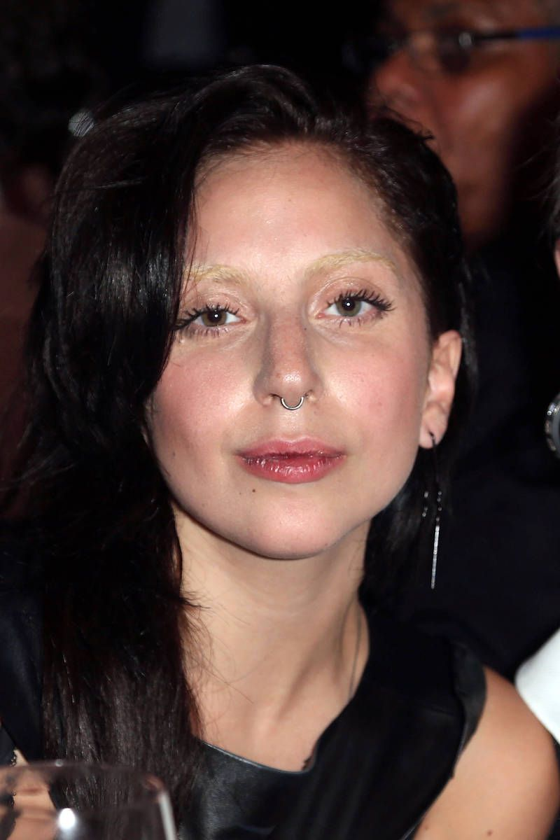 12 Stars Who Bleached Their Brows Lady Gaga Nose Lady Gaga Body Bleached Eyebrows