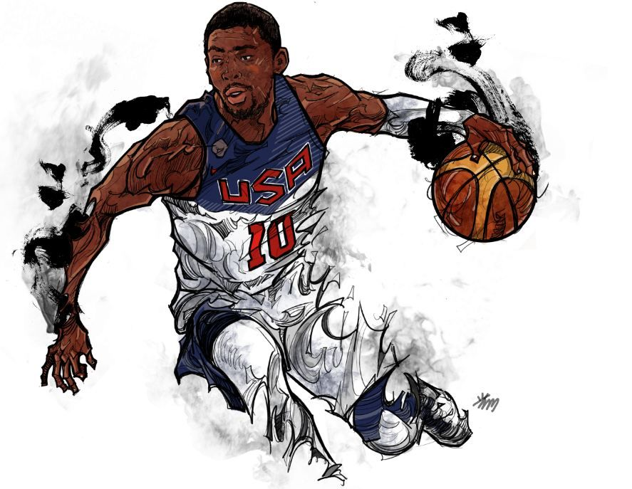Kyrie Irving   Basketball drawings, Nba art, Nba pictures