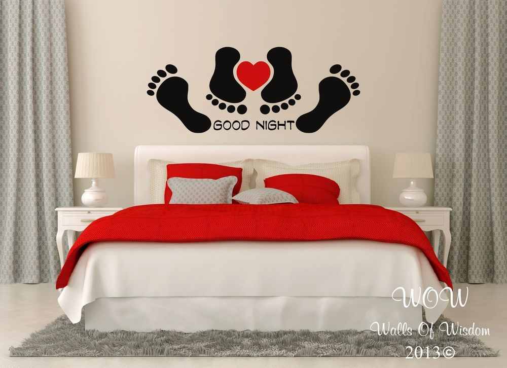 Funny Good Night Bedroom Sexy Adult Quote Wall Sticker / Wall Art Home Decor