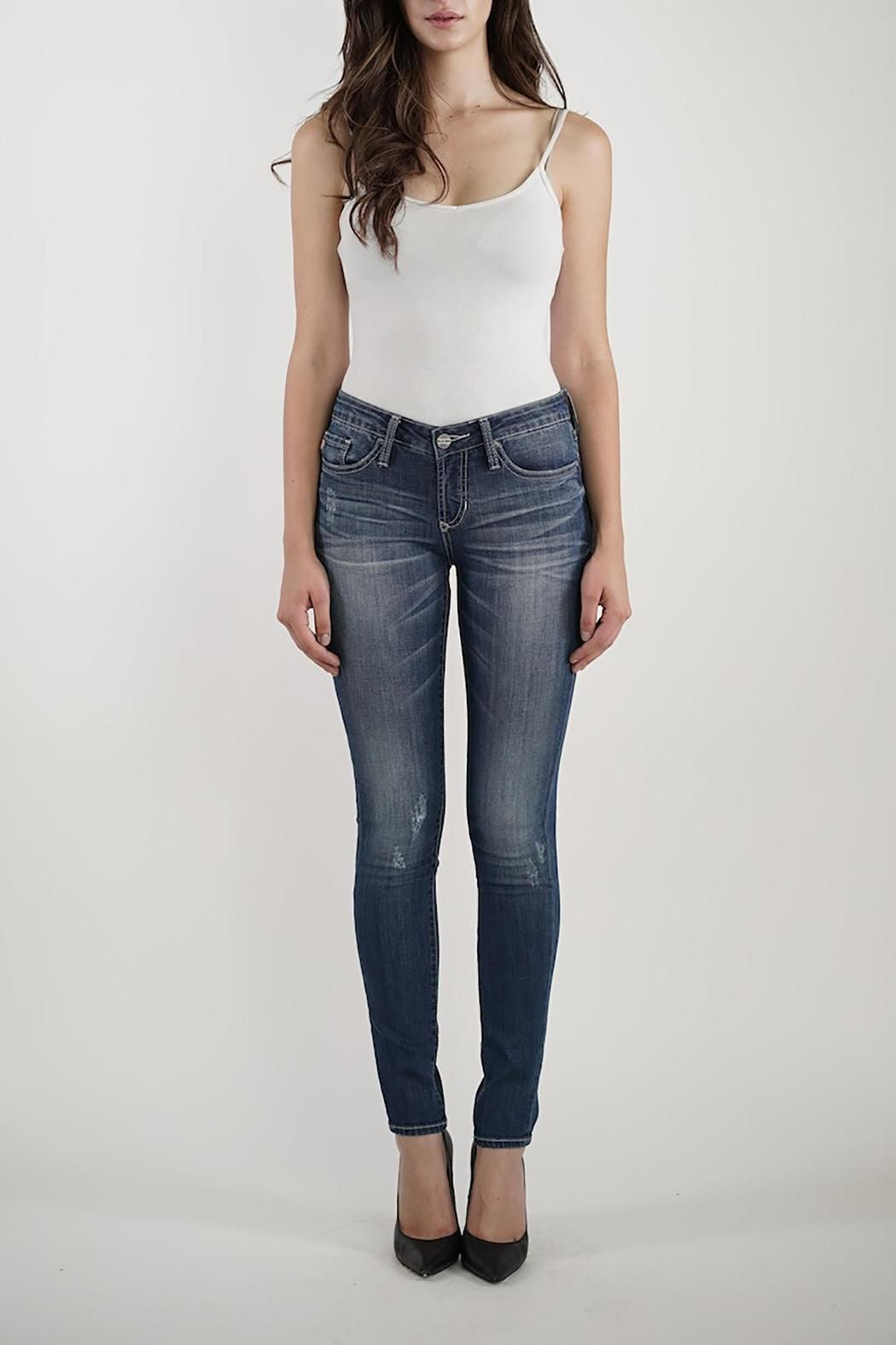 Comfortable hip-hugging skinny denim jeans with a nice amount of stretch faded dye and subtle distressed detailing. Fit is true to size. Joyrich Skinny Jeans by Dear John. Clothing - Bottoms Oregon