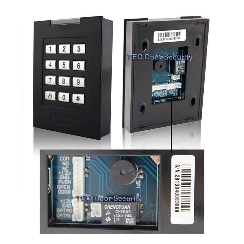 Keypad Door Access Control Rfid Card 1000 Users Entry System Door