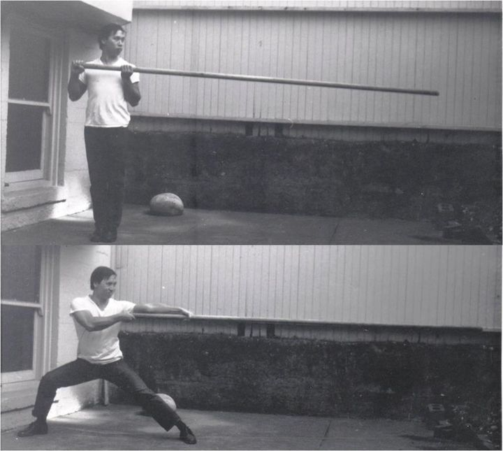 Kenneth Chung practicing the dragon pole in the 60s | Dragon