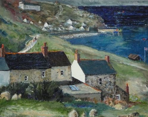 Cottages, Sennen Cove | Jeremy King. Cornwall