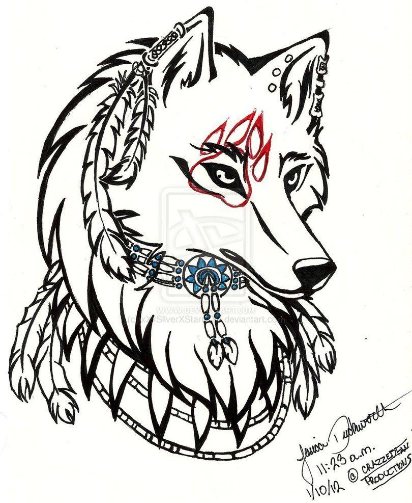 Tribal Native Wolf Head By Xxxsilverxstarexxx On Deviantart Tribal Wolf Tribal Wolf Tattoo Tribal Art