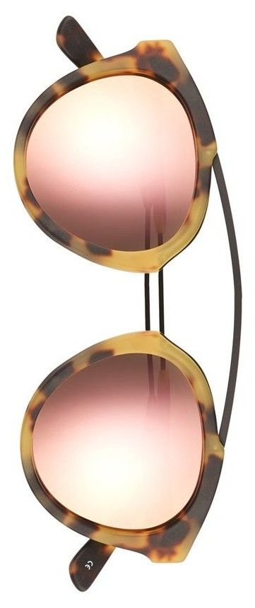 Olivia Palermo x Westward Leaning 'Flower' Mirrored Sunglasses