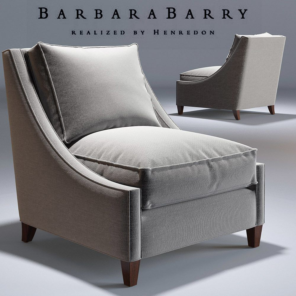 Barbara Barry Curved Back Lounge Armchair 3d Model Cgsouq Com Occasional Chairs Living Room Single Seater Sofa Armchair Furniture