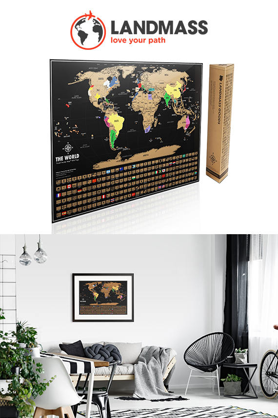 Scratch Off Map Black And Gold World Map Scratch Where You Ve