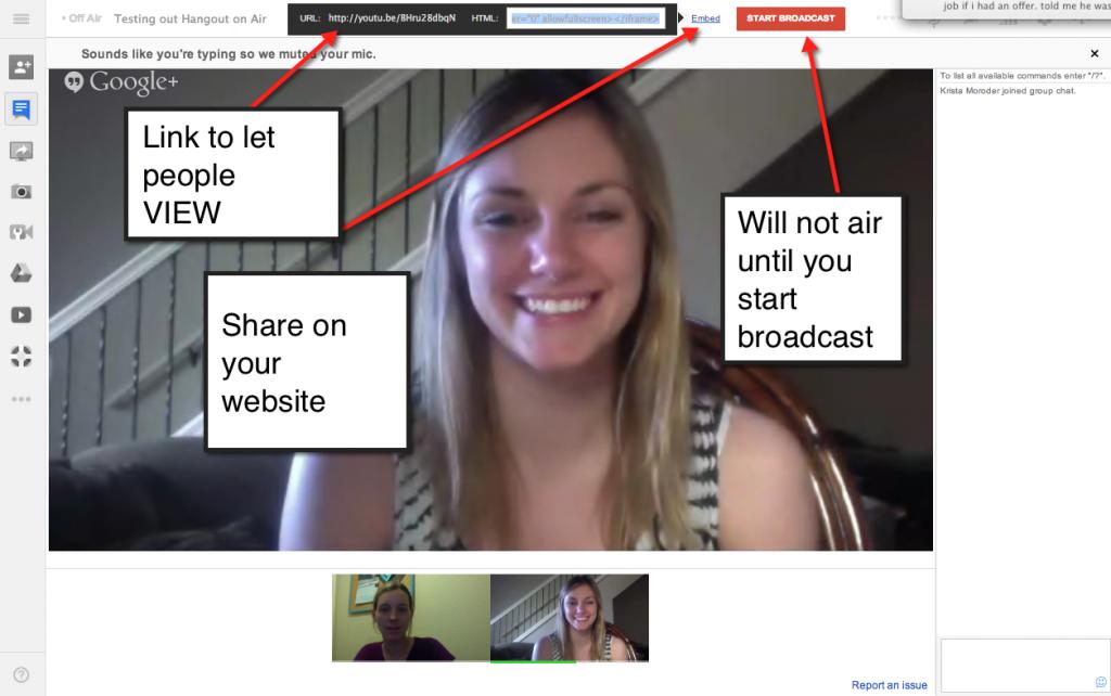 Broadcasting a Google Hangout on Air Teacher tech