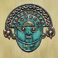 Bronze and copper mask, 'Ai Apaec Deity' - Bronze and copper mask