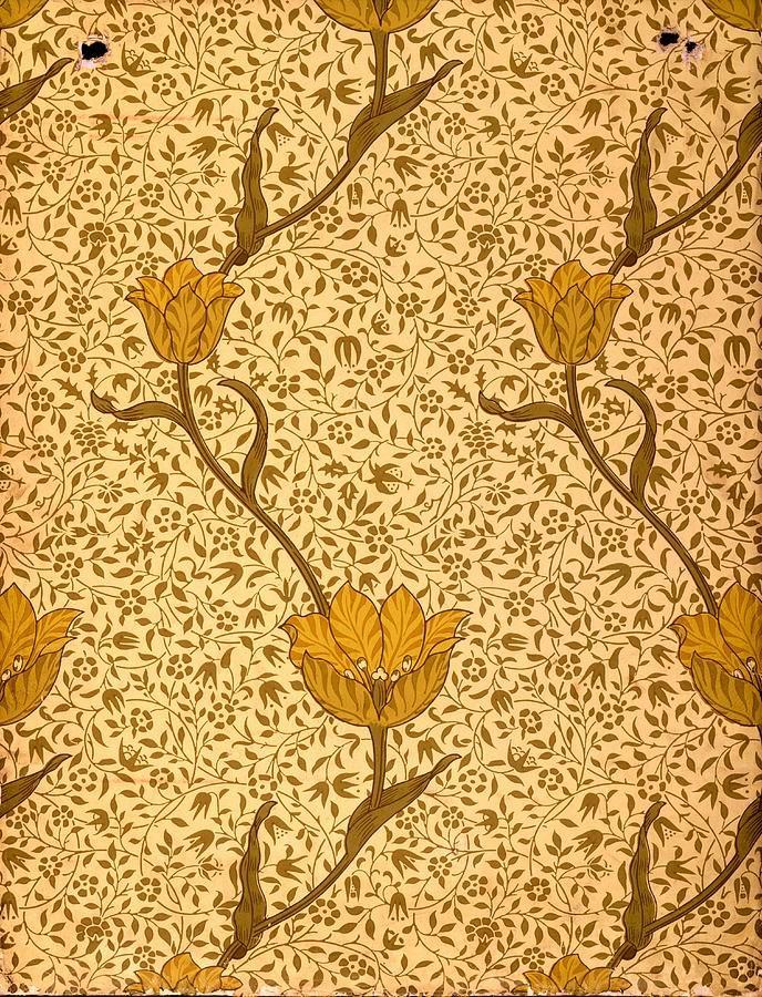Garden Tulip Wallpaper Design by William Morris William
