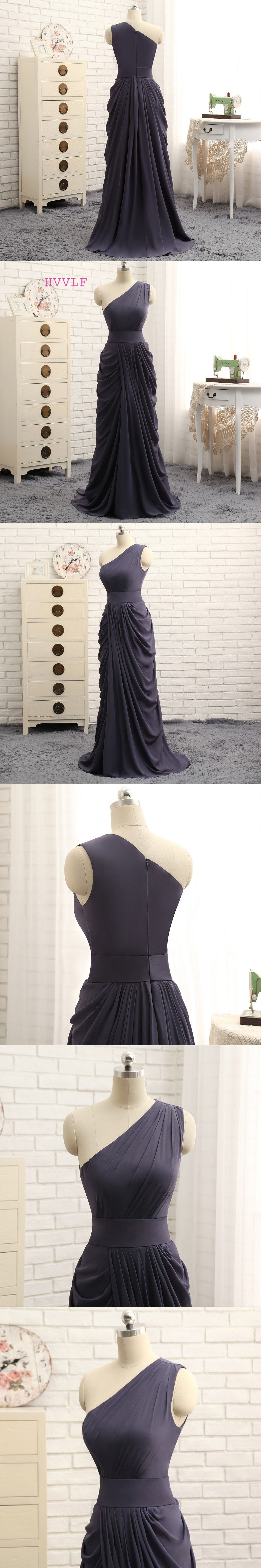 Hvvlf 2018 cheap bridesmaid dresses under 50 a line one shoulder hvvlf 2018 cheap bridesmaid dresses under 50 a line one shoulder gray chiffon pleated ombrellifo Gallery