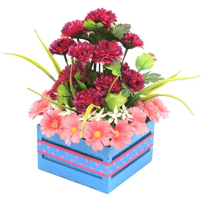 Manualidades para centros de mesa en color azul y rosa Arreglo de - arreglos de mesa