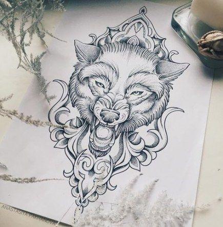 65+ Trendy Tattoo Ideas Moon Wolf