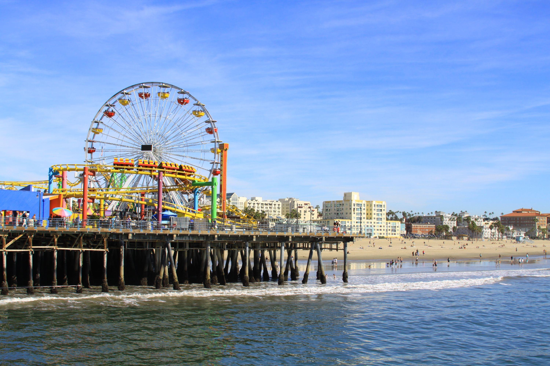 Santa Monica Pier | Los Angeles | Santa monica state beach, Los