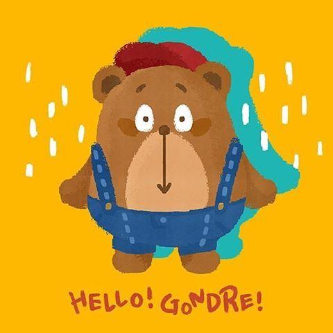 포토샵으로 쓱-쓱!! 😊 #곤드레 #일러스트 #드로잉 #스케치 #디자이너 #캐릭터 #손그림 #손글씨 #illust #character #gondre #note #drawing #illustration #painting #sketch #スケッチ #doodle #designer #cute #kawaii #painting #bear #かわいい #doodlelove