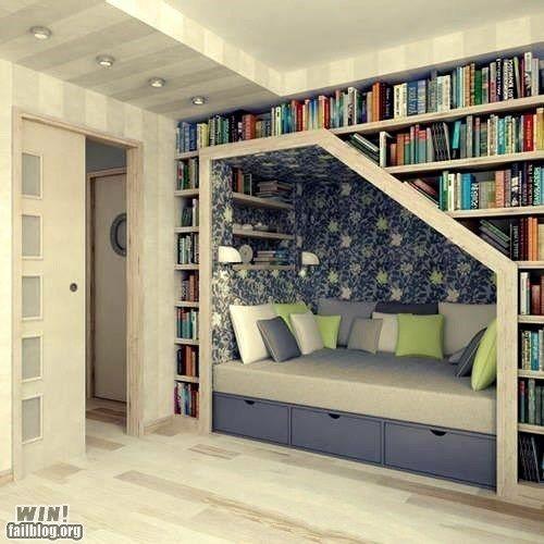 attic book nook - Google Search | Home Decor Ideas | Pinterest